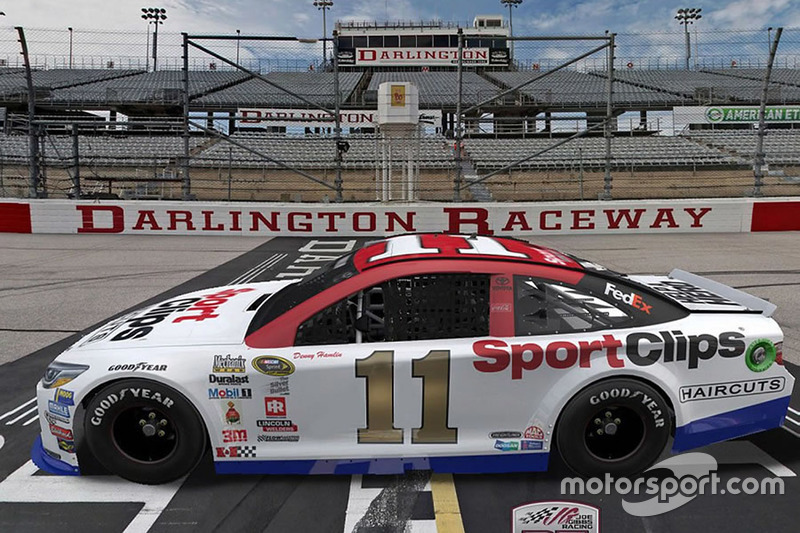 Throwback-Design von Denny Hamlin, Joe Gibbs Racing, Toyota