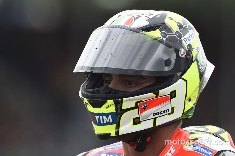 Andrea Iannone, Ducati Team after his crash