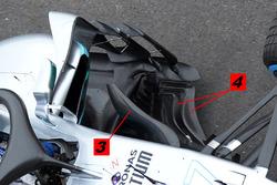 Mercedes AMG F1 W09 detalle de bargeboard