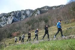 Joel Eriksson, Bruno Spengler, Marco Wittmann, Philipp Eng and Augusto Farfus, Hiking