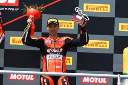 Podium: Marco Melandri, Aruba.it Racing-Ducati SBK Team