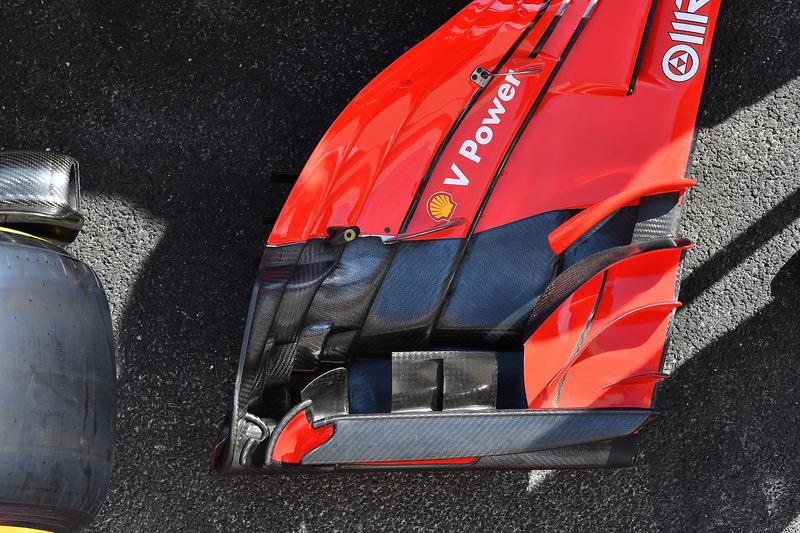 Деталі переднього антикрила Ferrari SF71H