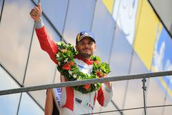 Podio LMGTE Am: il secondo classificato Giancarlo Fisichella, Spirit of Race
