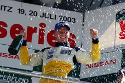 Podium: race 2 winner Heikki Kovalainen, Gabord Competition
