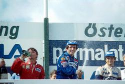 Podium: 1. Alain Prost, Renault; 2. René Arnoux, Ferrari; 3. Nelson Piquet, Brabham
