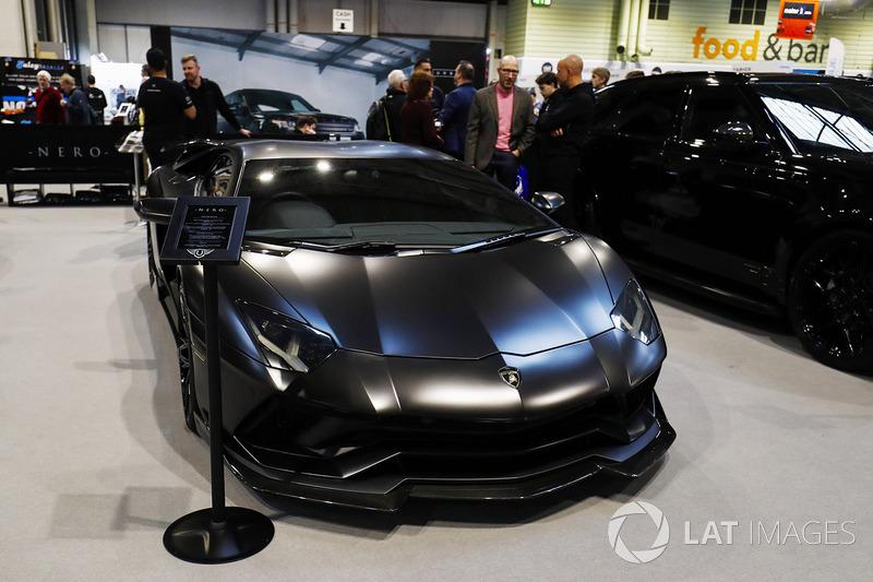 A Lamborghini on display