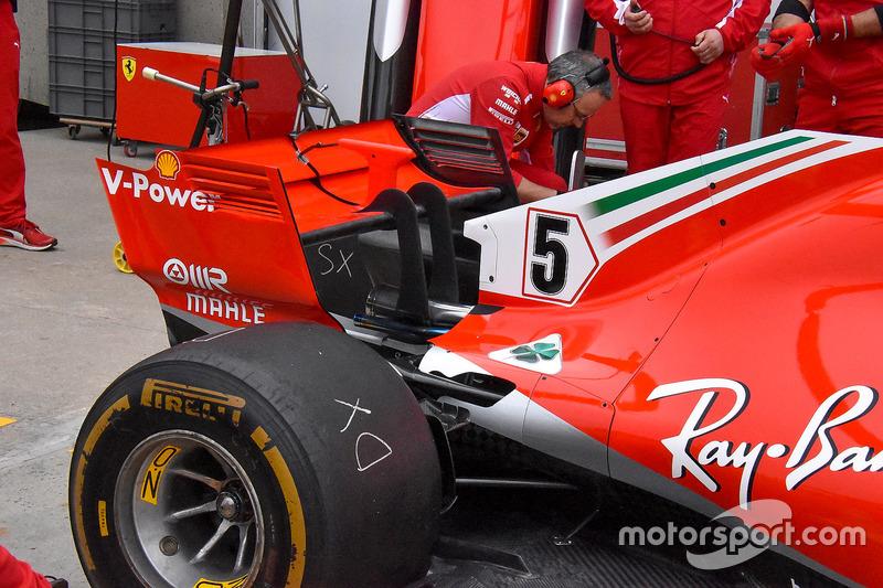 Ferrari SF71H achtervleugel detail