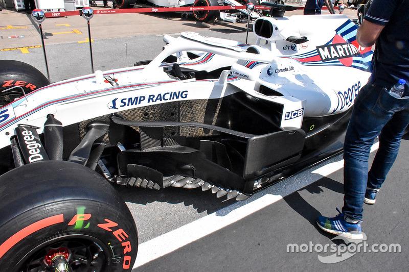 Williams FW41 bargeboard detail