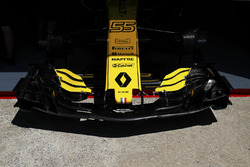 Nose detail of the Carlos Sainz Jr. Renault Sport F1 Team R.S. 18