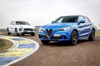 Alfa Romeo Stelvio QV 2018 und Porsche Macan Turbo PP 2018