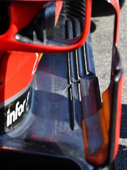 Ferrari SF71H, dettaglio del bargeboard