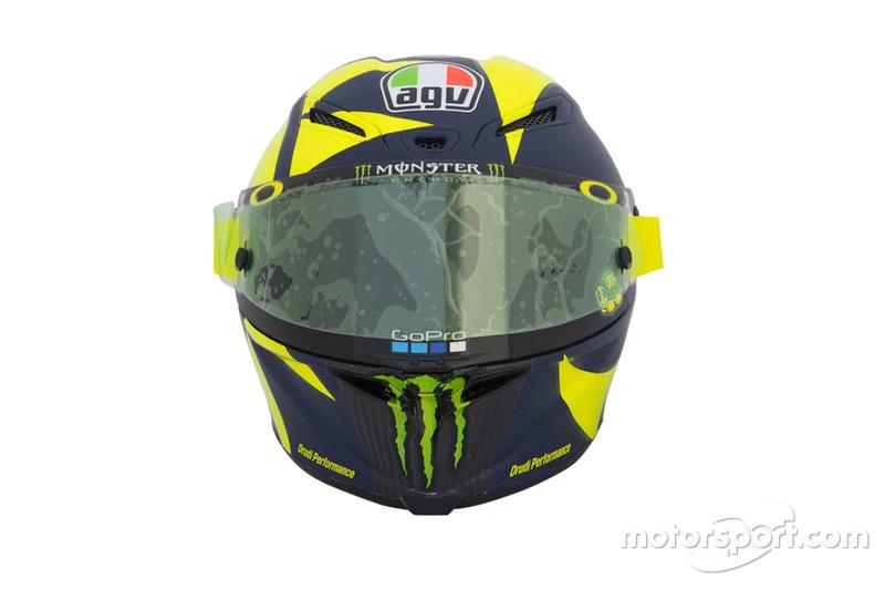 El casco de Valentino Rossi, Yamaha Factory Racing