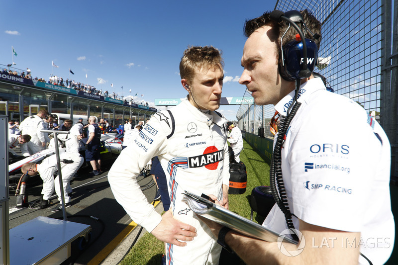 Sergey Sirotkin, Williams Racing, in griglia