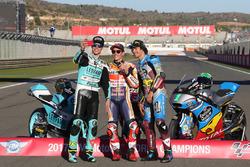 Moto3 Champion Joan Mir, Leopard Racing MotoGP Champion Marc Marquez, Repsol Honda Team, Moto2 Champion, Franco Morbidelli, Marc VDS