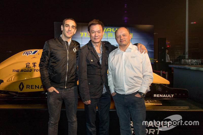 Cyril Abiteboul, Renault Sport F1 Managing Director, Kenneth Ma, FRD Founder and Frederic Vasseur, R
