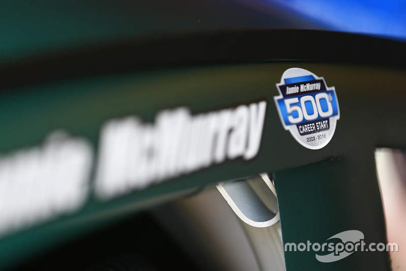 Decalcomania commemorativa della 500esima partenza di Jamie McMurray, Chip Ganassi Racing Chevrolet