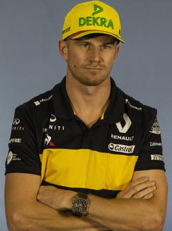 Nico Hulkenberg, Renault Sport F1 Team, en conférence de presse