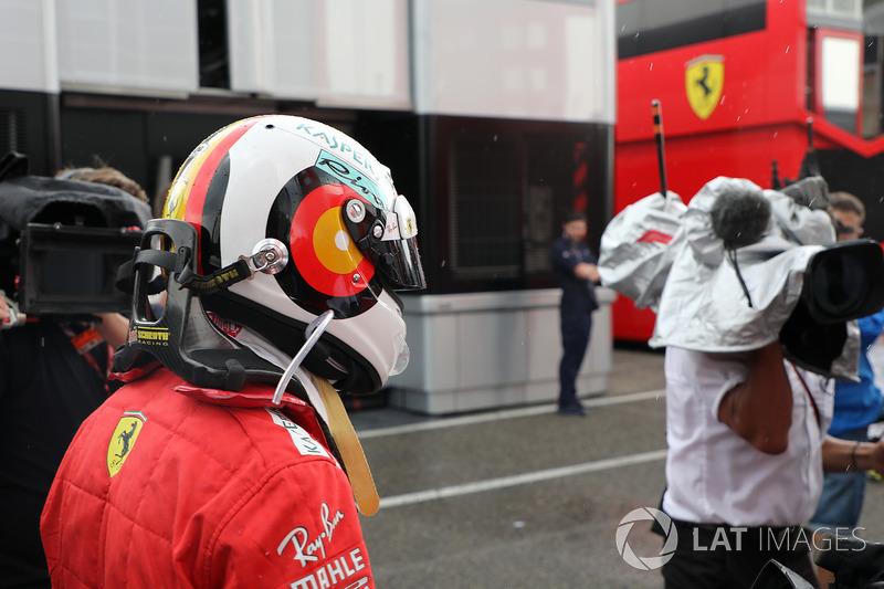 Sebastian Vettel, Ferrari tras su accidente