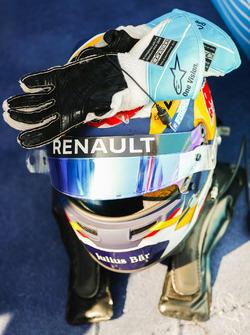 Il casco di Sébastien Buemi, Renault e.Dams