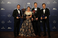 Petter Solberg met Pernilla Solberg, Johan Kristoffersson en Mattias Ekström