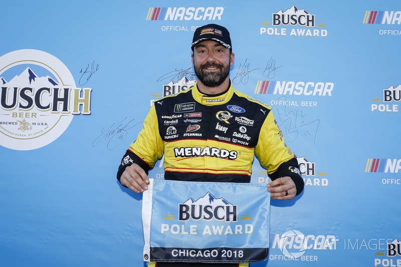 Paul Menard, Wood Brothers Racing, Ford Fusion Menards / Sylvania Busch Pole Award