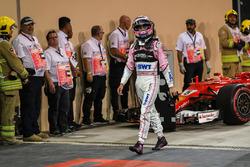 Sergio Perez, Sahara Force India in parc ferme