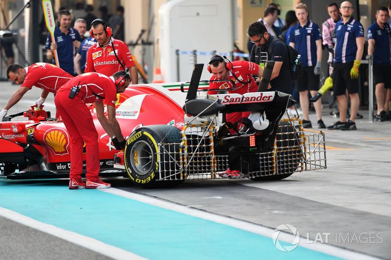 Sensores en el coche de Kimi Raikkonen, Ferrari SF70H