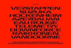 F1 Turbo typeface