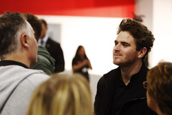 Oliver Rowland talks to visitors