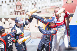 Podium: Sébastien Ogier, M-Sport Ford WRT and Dani Sordo, Hyundai Motorsport, Kris Meeke, Citroën World Rally Team