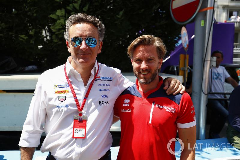 Nick Heidfeld, Mahindra Racing, Alejandro Agag, CEO, Formula E
