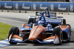 Scott Dixon, Chip Ganassi Racing Honda, Graham Rahal, Rahal Letterman Lanigan Racing Honda