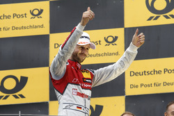 Podium: Race winner René Rast, Audi Sport Team Rosberg, Audi RS 5 DTM