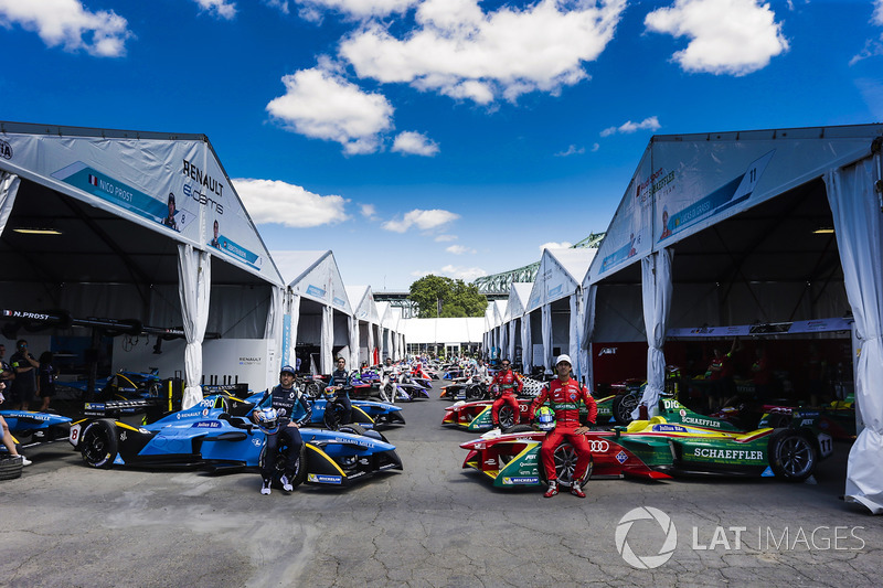 Gruppenfoto: Alle Teams der Formel E 2016/2017