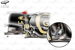 Lotus Renault R31 exhausts