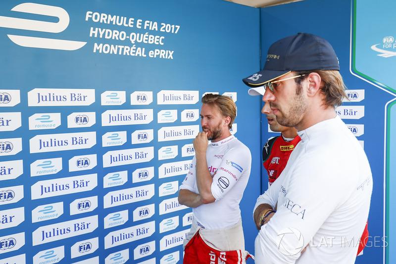 Nick Heidfeld, Mahindra Racing, y Jean-Eric Vergne, Techeetah