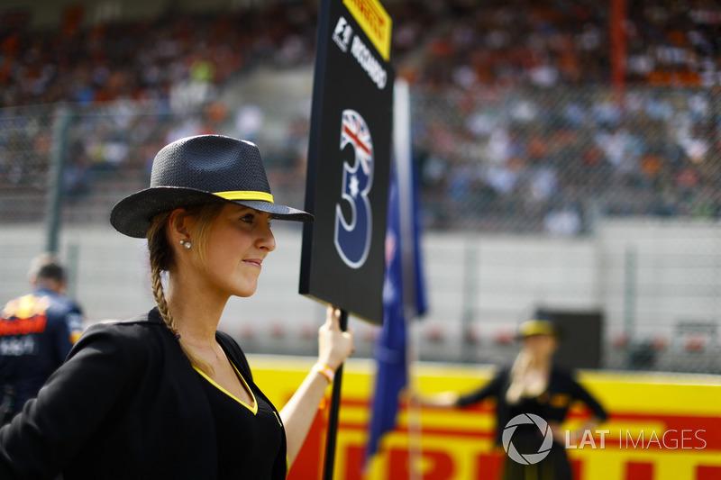 Grid Girl for Daniel Ricciardo, Red Bull Racing