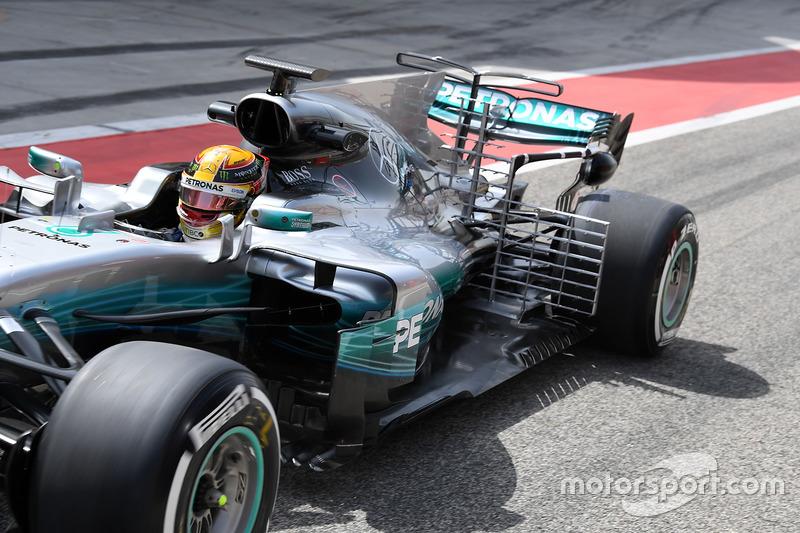 Lewis Hamilton, Mercedes AMG F1 W08, mit Aero-Sensoren
