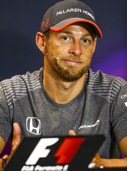 Jenson Button, in the press conference