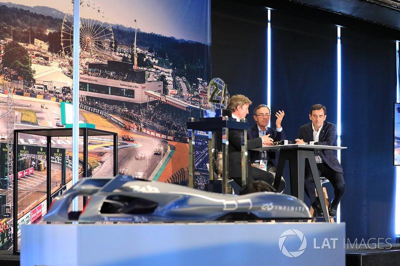Bruno Vandestick, Pierre Fillon, ACO-Präsident, Sir Lindsay Owen-Jones