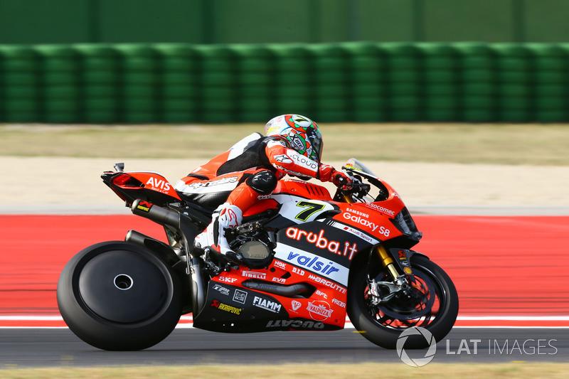 Chaz Davies, Ducati Team con la cubierta de rueda