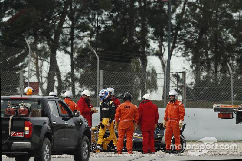 Jolyon Palmer, Renault Sport F1 Team after spinning