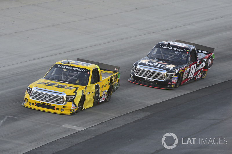 Cody Coughlin, ThorSport Racing, Toyota; Noah Gragson, Kyle Busch Motorsports, Toyota
