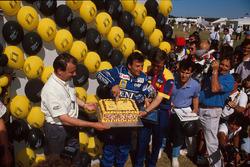 Riccardo Patrese, Williams, feiert seinen 200. Grand Prix
