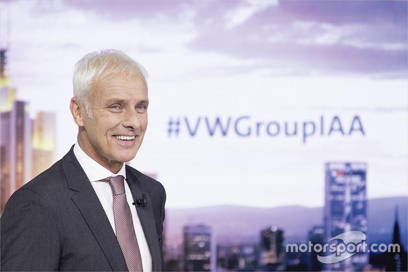 VW-Chef Matthias Müller bei der IAA 2017