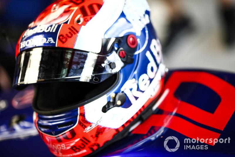 Le casque de Pierre Gasly, Scuderia Toro Rosso