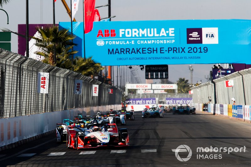 Jérôme d'Ambrosio, Mahindra Racing, M5 Electro, Lucas di Grassi, Audi Sport ABT Schaeffler, Audi e-tron FE05, the rest of the field