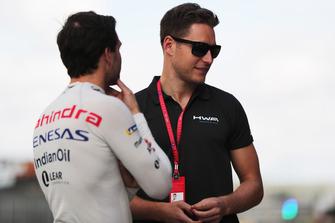 Jérôme d'Ambrosio, Mahindra Racing, with Stoffel Vandoorne, HWA Racelab
