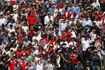 Fans pack out the grandstands ready for the race