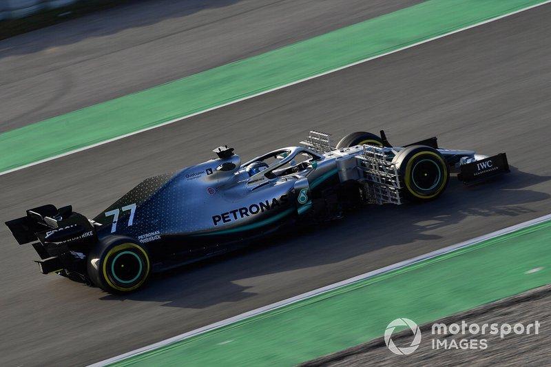 Valtteri Bottas, Mercedes-AMG F1 W10 EQ Power+ avec des capteurs aérodynamiques